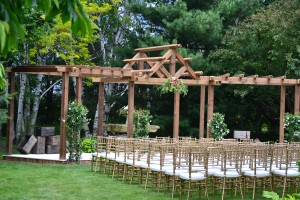 Wedding area with new pergola